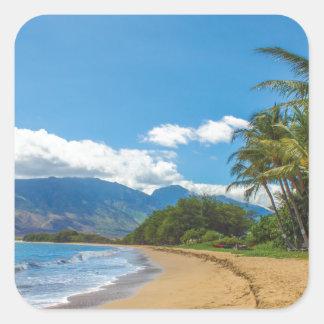 Adesivo Quadrado Praia em Havaí