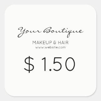 Adesivo Quadrado Preço minimalista do boutique
