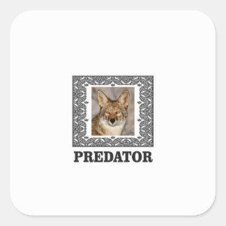 Adesivo Quadrado Predador afiado