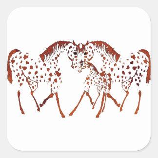 Adesivo Quadrado Presentes e roupa do amante do cavalo do Appaloosa