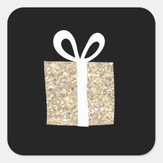 Adesivo Quadrado Presentes Giftwrap de Goldn pelo estúdio de NJCO