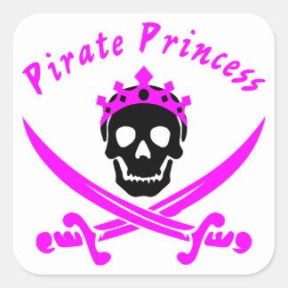 Adesivo Quadrado Princesa do pirata
