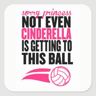 Adesivo Quadrado Princesa pesarosa: Voleibol