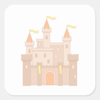 Adesivo Quadrado Princesa real medieval Castelo do conto de fadas
