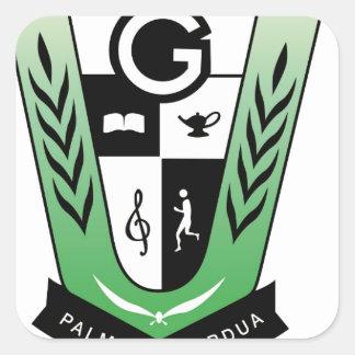 Adesivo Quadrado Produtos da crista da reunião dos alunos de GGMSS
