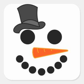 Adesivo Quadrado Produtos do menino do boneco de neve