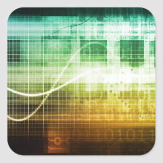 Adesivo Quadrado Protecção de dados e exploração da segurança do