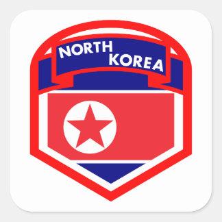 Adesivo Quadrado Protetor da bandeira da Coreia do Norte