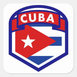Adesivo Quadrado Protetor da bandeira de Cuba