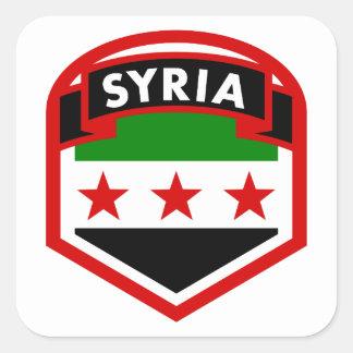 Adesivo Quadrado Protetor da bandeira de Syria