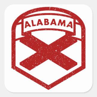 Adesivo Quadrado Protetor da bandeira do estado de Alabama
