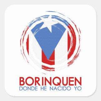 Adesivo Quadrado Puerto Rico Borinquen