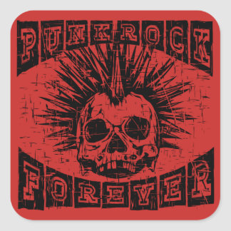 Adesivo Quadrado punk rock para sempre