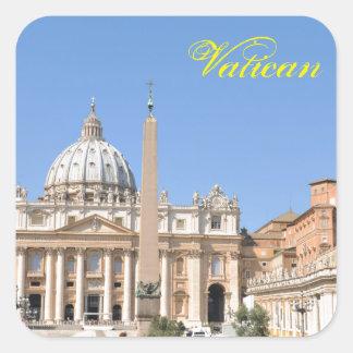 Adesivo Quadrado Quadrado de San Pietro no vaticano, Roma, Italia