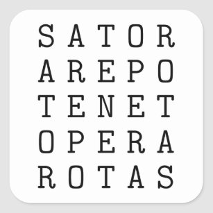Adesivo Quadrado Quadrado de Sator
