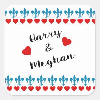 Adesivo Quadrado Quando Harry encontrou Meghan