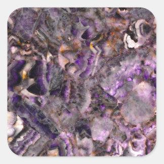Adesivo Quadrado quartzo roxo