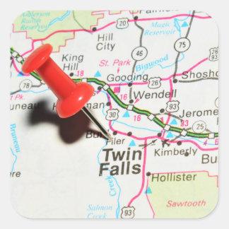 Adesivo Quadrado Quedas do gêmeo, Idaho