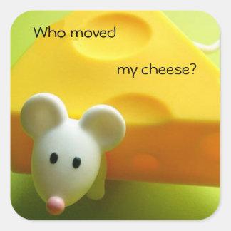 Adesivo Quadrado Quem moveu meu queijo