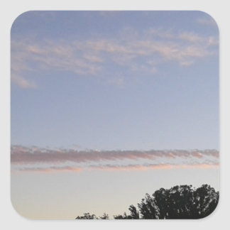 Adesivo Quadrado Raia da nuvem
