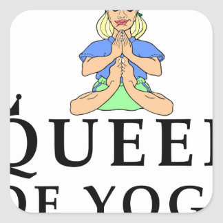 Adesivo Quadrado rainha da ioga