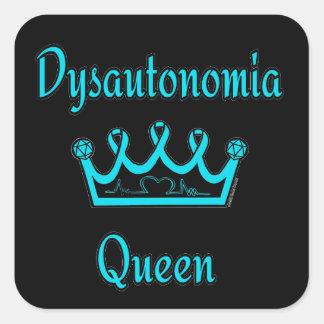 Adesivo Quadrado Rainha de Dysautonomia