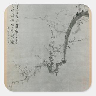 Adesivo Quadrado Ramo da ameixa - Yi Yuwon