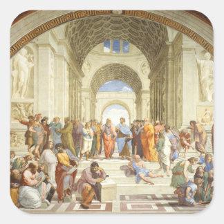 Adesivo Quadrado Raphael - A escola de Atenas 1511