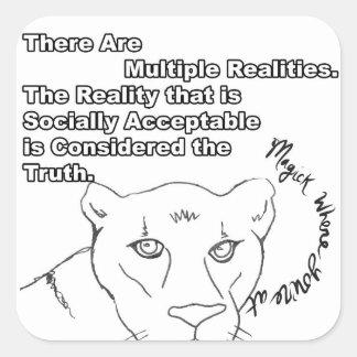 Adesivo Quadrado Realidades múltiplas