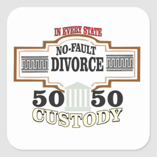 Adesivo Quadrado reduza a custódia 50 50 automática dos divórcios