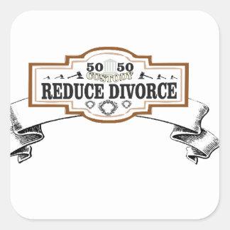 Adesivo Quadrado reduza a custódia 50 do divórcio 50