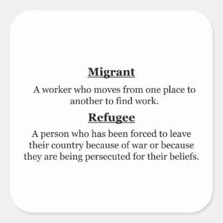 Adesivo Quadrado Refugiados emigrantes