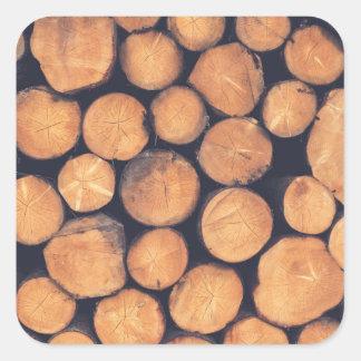 Adesivo Quadrado Registros de madeira