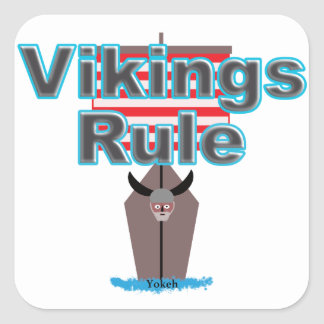 Adesivo Quadrado Regra de Viquingues