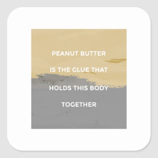 Adesivo Quadrado Regras da manteiga de amendoim