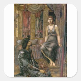 Adesivo Quadrado Rei Cophetua e empregada doméstica de Edward - de