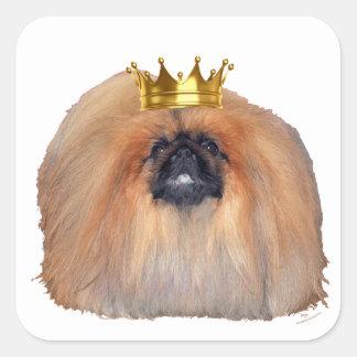 Adesivo Quadrado Rei de Pekingese (personalize se você deseja!)