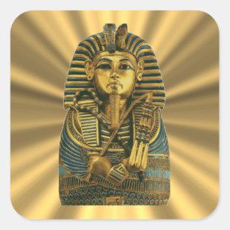 Adesivo Quadrado Rei dourado Tut #2