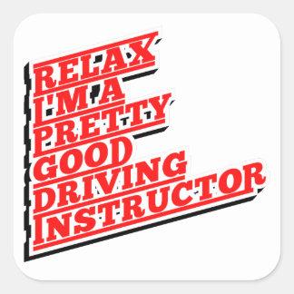 Adesivo Quadrado Relaxe-me são um relativamente bom instrutor de