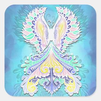 Adesivo Quadrado Renascido - luz, bohemian, espiritualidade