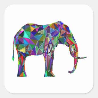 Adesivo Quadrado Renascimento do elefante