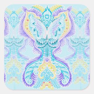 Adesivo Quadrado Renascimento, idade nova, meditação, boho, hippie