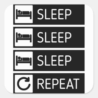 Adesivo Quadrado Repetição do sono do sono do sono