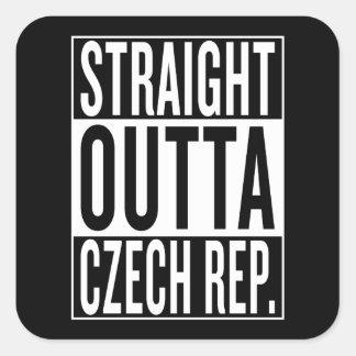 Adesivo Quadrado república checa do outta reto