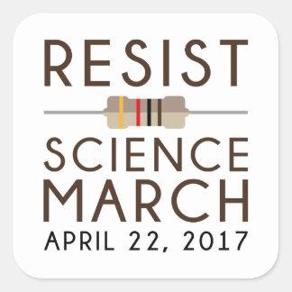 Adesivo Quadrado Resista a ciência março