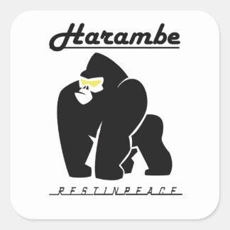 ADESIVO QUADRADO RESTO DE HARAMBE NO T-SHIRT DA PAZ