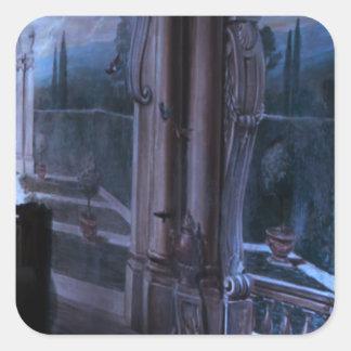 Adesivo Quadrado Retorno artístico da ponte de Windows das