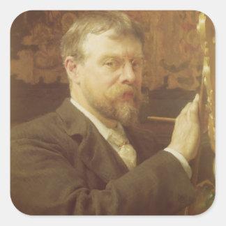 Adesivo Quadrado Retrato de auto de Alma-Tadema  , 1897