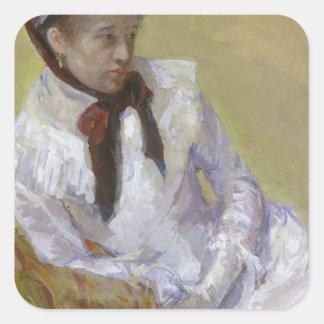 Adesivo Quadrado Retrato do artista - Mary Cassatt