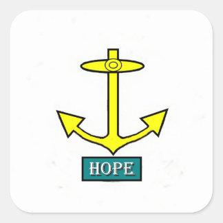 Adesivo Quadrado Rhode - âncora da esperança da ilha